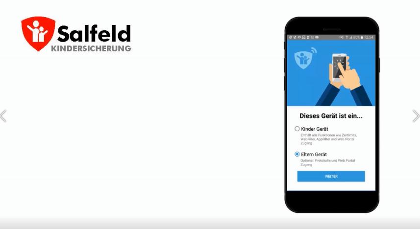 Eltern-App in der Salfeld Kindersicherung